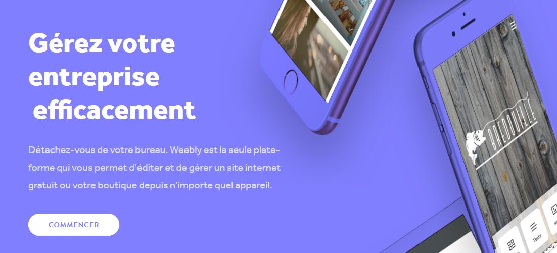 weebly créer un site web